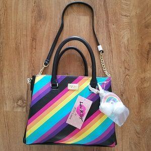 Betsey Johnson Rainbow Purse (Satchel) NWT